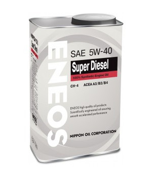 Масло моторное ENEOS Super Diesel CH-4 Синтетика 5w40 0.94л